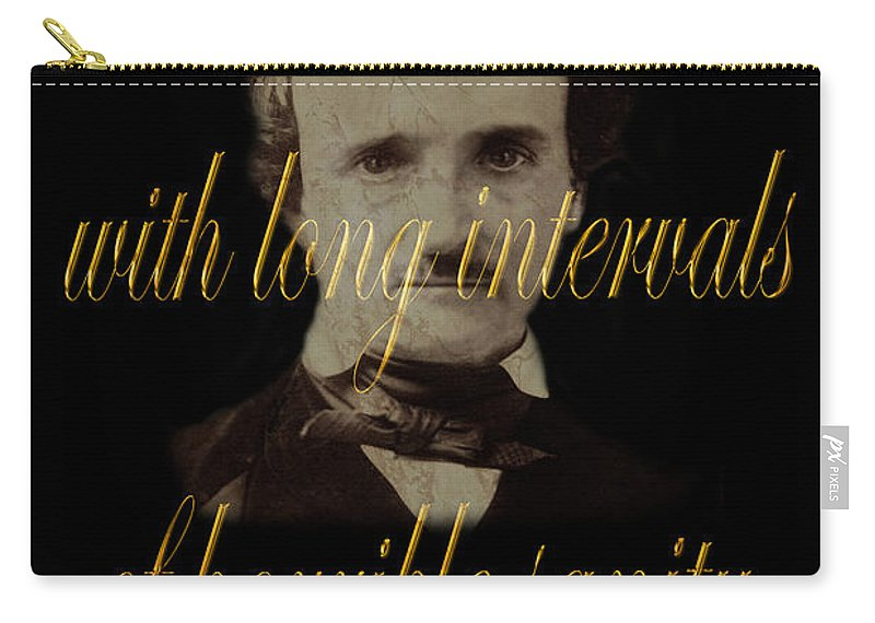 Poe Carry-all Pouch featuring the photograph Edgar Allan Poe 2 by Andrew Fare