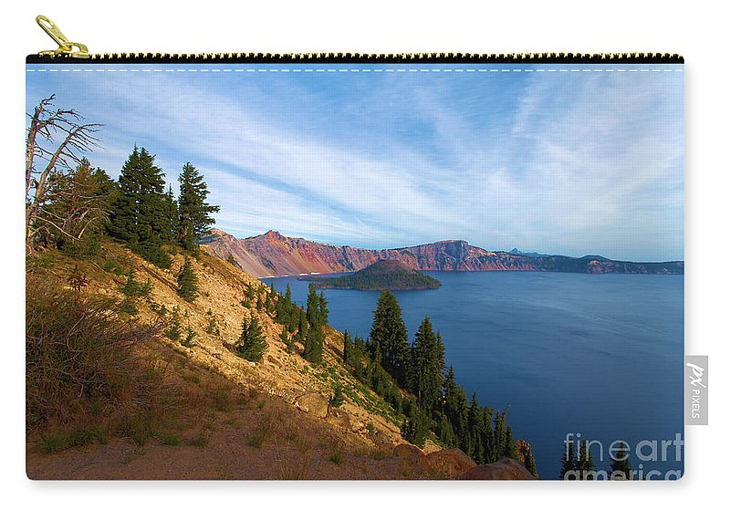 Crater Lake National Park Carry-all Pouch featuring the photograph Edge Of The Crater by Adam Jewell