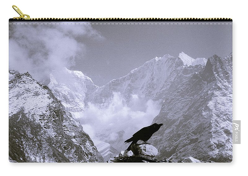 Himalaya Carry-all Pouch featuring the photograph Eerie Himalayas by Shaun Higson