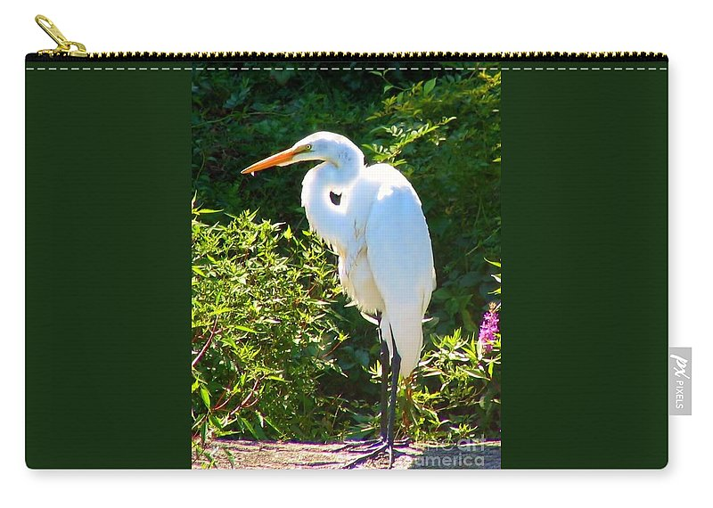 Egret Carry-all Pouch featuring the photograph Egret Regret by Art Dingo