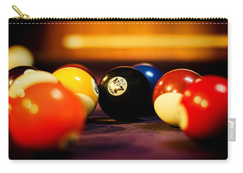8 Ball Carry-all Pouch featuring the photograph Eight Ball by Heather Applegate