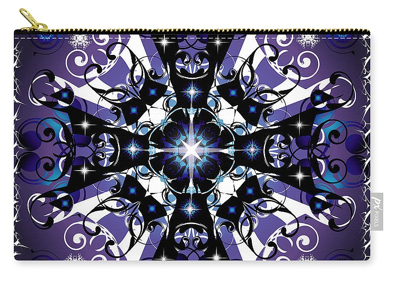 Abstract Carry-all Pouch featuring the digital art Elan 1 by George Pasini