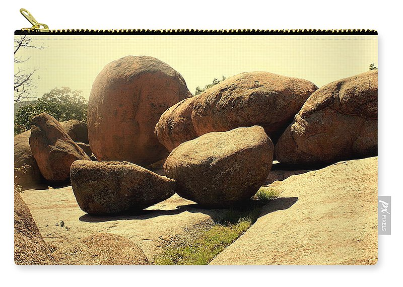 Elephant Rocks Carry-all Pouch featuring the photograph Elaphant Rocks 4 by Marty Koch
