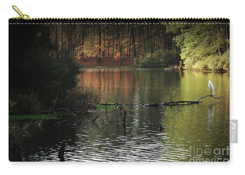 Elder Lake Kilgore Tx Carry-all Pouch featuring the photograph Elder Lake by Kim Henderson