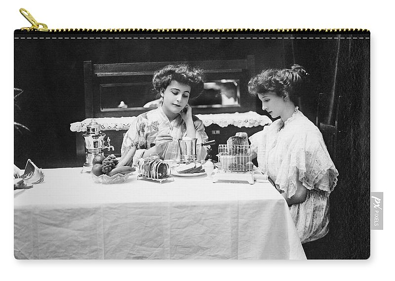 1908 Carry-all Pouch featuring the photograph Electric Cookware, 1908 by Granger
