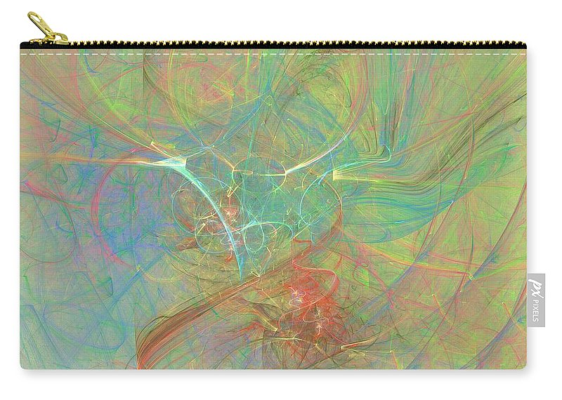 Digital Art Carry-all Pouch featuring the digital art Electrifying by Christy Leigh