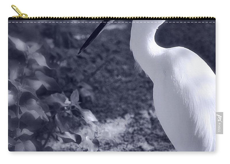 Snowy Egret Carry-all Pouch featuring the photograph Elegance by Saija Lehtonen