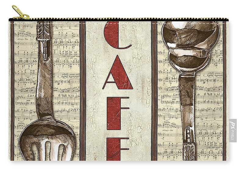 Cafe Carry-all Pouch featuring the painting Elegant Bistro 2 by Debbie DeWitt