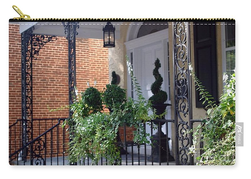 Entrance Carry-all Pouch featuring the photograph Elegant Entrance by Living Color Photography Lorraine Lynch