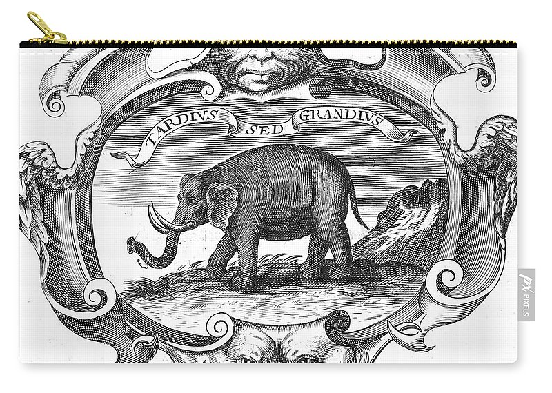 Africa Carry-all Pouch featuring the photograph Elephant, 17th Cent by Granger