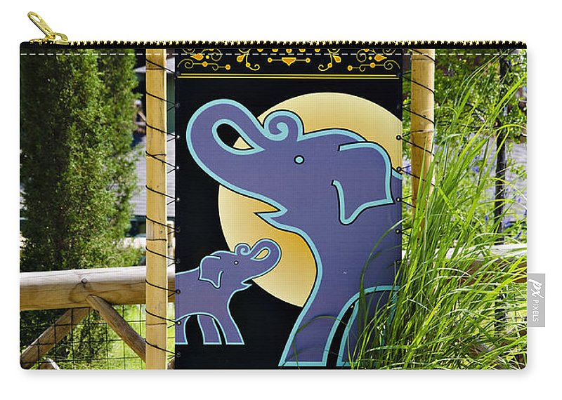Oklahoma Carry-all Pouch featuring the photograph Elephants by Ricky Barnard