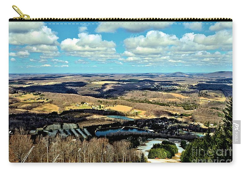 Spring Skiing Carry-all Pouch featuring the photograph Elk Mountain Ski Resort by Adam Jewell