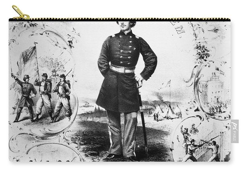 1861 Carry-all Pouch featuring the photograph Elmer Ephraim Ellsworth by Granger
