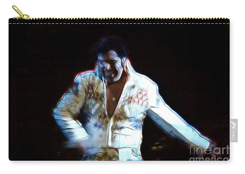 Elvis Carry-all Pouch featuring the photograph Elvis Is Alive by Darleen Stry
