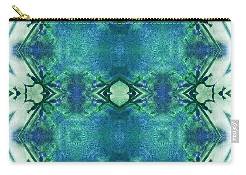 Abstract Carry-all Pouch featuring the digital art Emblem Of Another Era by Georgiana Romanovna