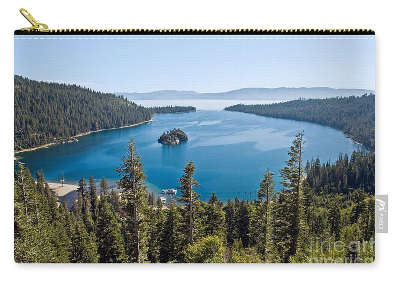 Ship Carry-all Pouch featuring the photograph Emerald Bay Morning by Jim Chamberlain