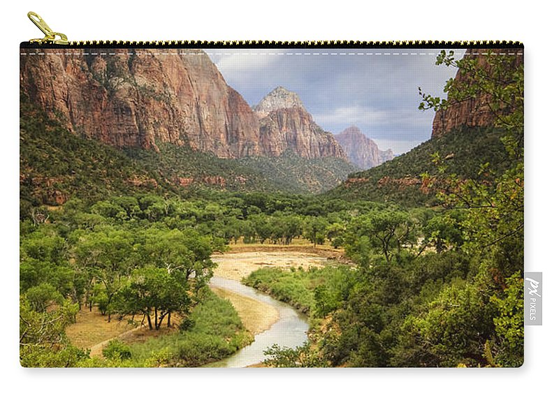 Zion Carry-all Pouch featuring the photograph Emerald Pools Trail 3 by Jessica Velasco