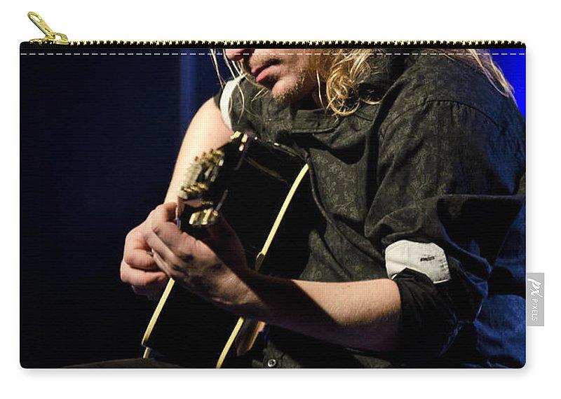 Emppu Vuorinen Carry-all Pouch featuring the photograph Emppu Vuorinen - Nightwish by Saija Lehtonen