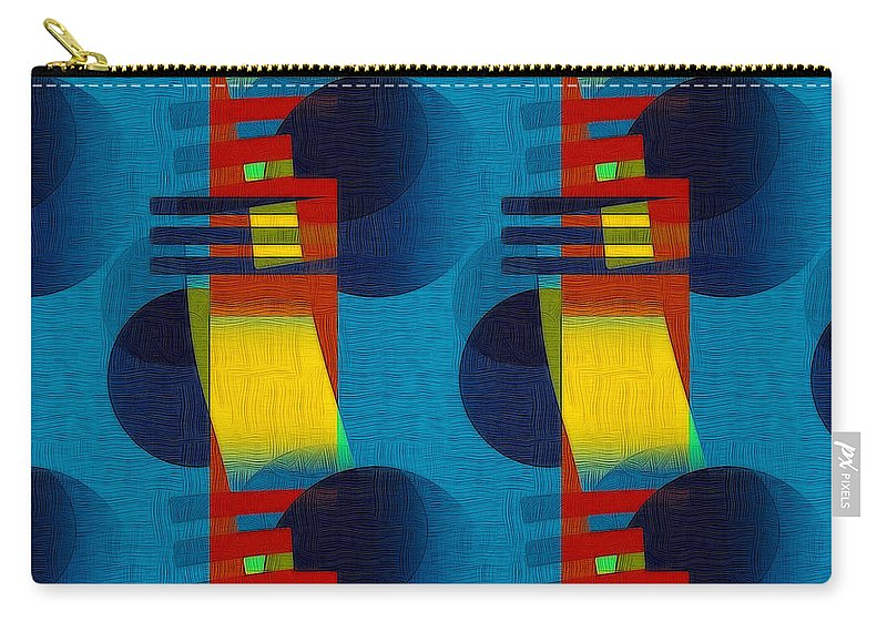 Abstract Carry-all Pouch featuring the digital art En Formes 01f by Aimelle