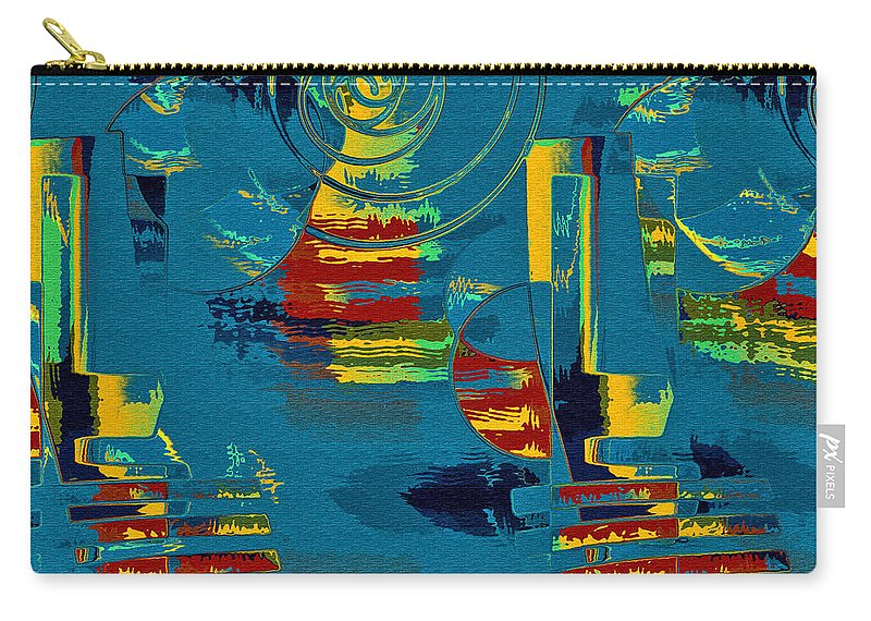 Abstract Carry-all Pouch featuring the digital art En Formes 03 by Aimelle