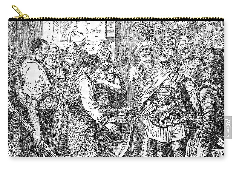 476 Carry-all Pouch featuring the photograph End Of The Roman Empire by Granger