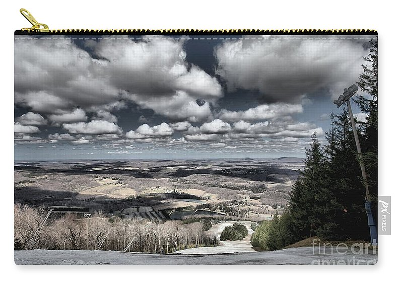 Spring Skiing Carry-all Pouch featuring the photograph End Of The Season by Adam Jewell