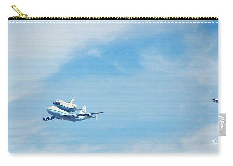 Endeavor's Last Flight Carry-all Pouch featuring the photograph Endeavour's Last Flight by Diana Haronis