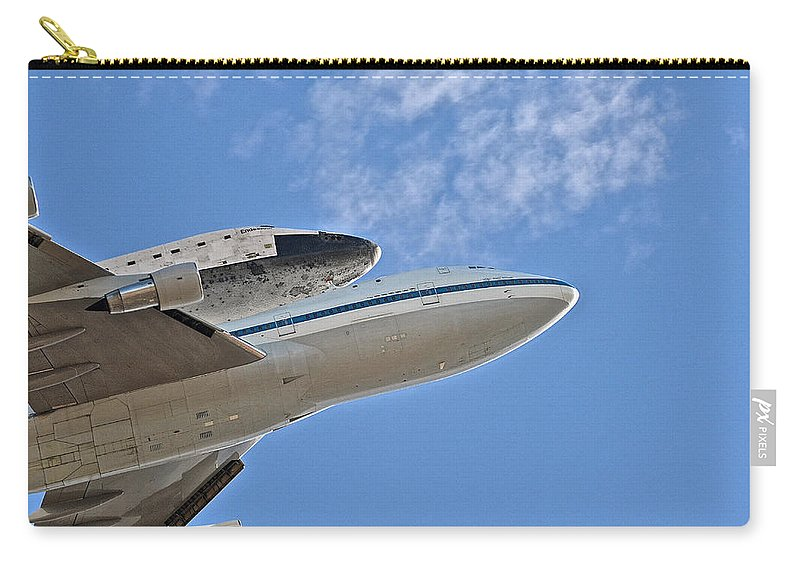 Endeavour Carry-all Pouch featuring the photograph Endeavour's Last Flight IIi by Bill Owen