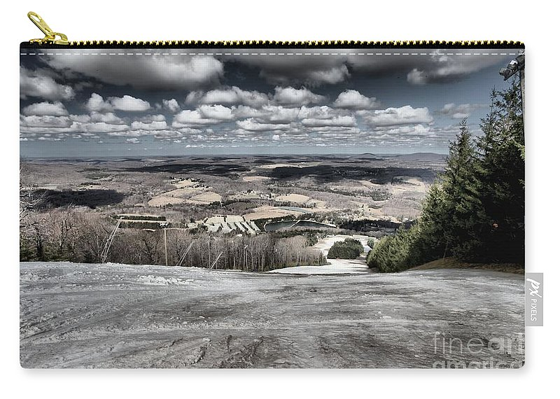 Spring Skiing Carry-all Pouch featuring the photograph Endless Clouds by Adam Jewell