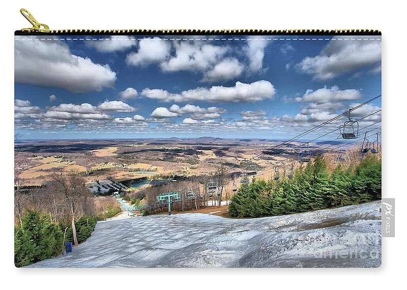 Skiing Carry-all Pouch featuring the photograph Endless Views by Adam Jewell