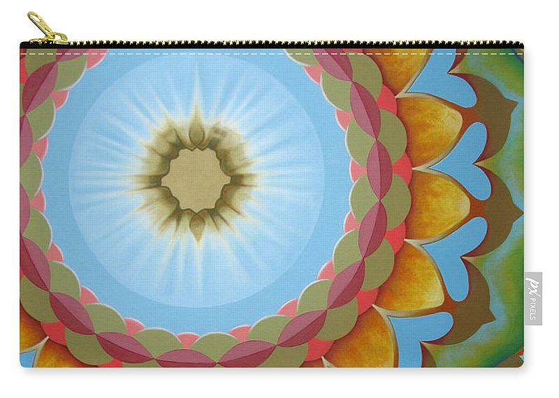 Sun Carry-all Pouch featuring the painting Enfant Soleil by Pascal Roy