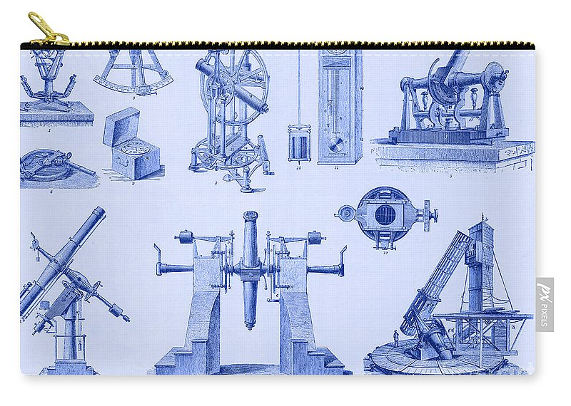 Astronomy Carry-all Pouch featuring the photograph Engraving Of Historical Astronomy by Science Source