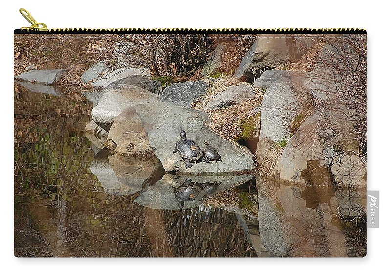 Water Carry-all Pouch featuring the photograph Enjoying The Sun by Kari McDonald