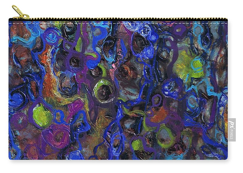 Tortuous Carry-all Pouch featuring the painting Entanglements Redux by Regina Valluzzi