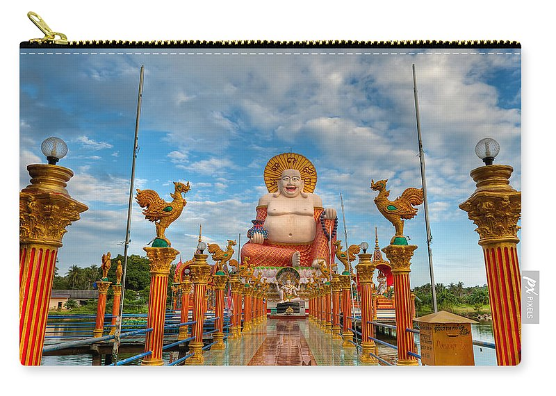 Architecture Carry-all Pouch featuring the photograph Entrance To Buddha by Adrian Evans