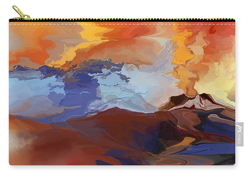 Fine Art Carry-all Pouch featuring the digital art Eruption by David Lane