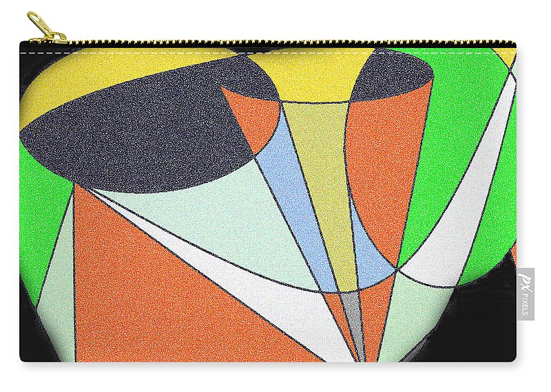 Abstract Carry-all Pouch featuring the digital art Escaping Conservatism by Ian MacDonald