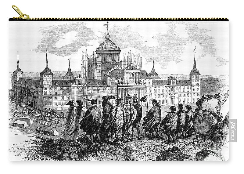 1860 Carry-all Pouch featuring the photograph Escorial: Japanese Visitors by Granger