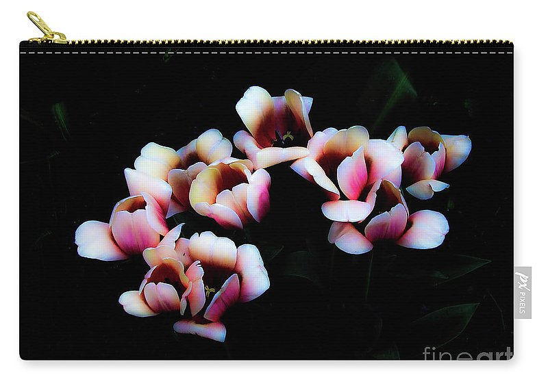 Tulip Carry-all Pouch featuring the photograph Ethereal Tulips 2 by Frances Hattier