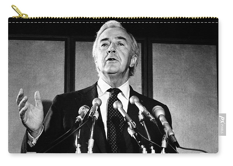 1976 Carry-all Pouch featuring the photograph Eugene Mccarthy (1916-2005) by Granger