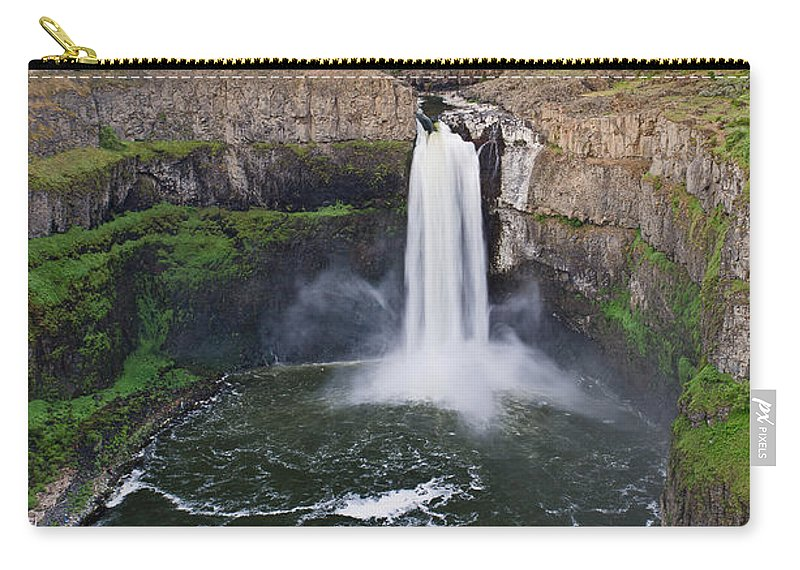 Palouse Falls Carry-all Pouch featuring the photograph Evening At Palouse Falls by Greg Nyquist
