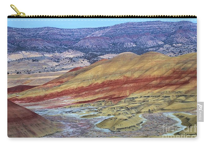 John Day Fossil Beds Carry-all Pouch featuring the photograph Evening In The Painted Hills by Adam Jewell