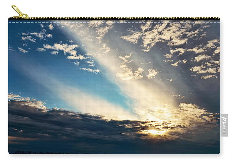 Nature Carry-all Pouch featuring the photograph Evening Rays by Debbie Portwood
