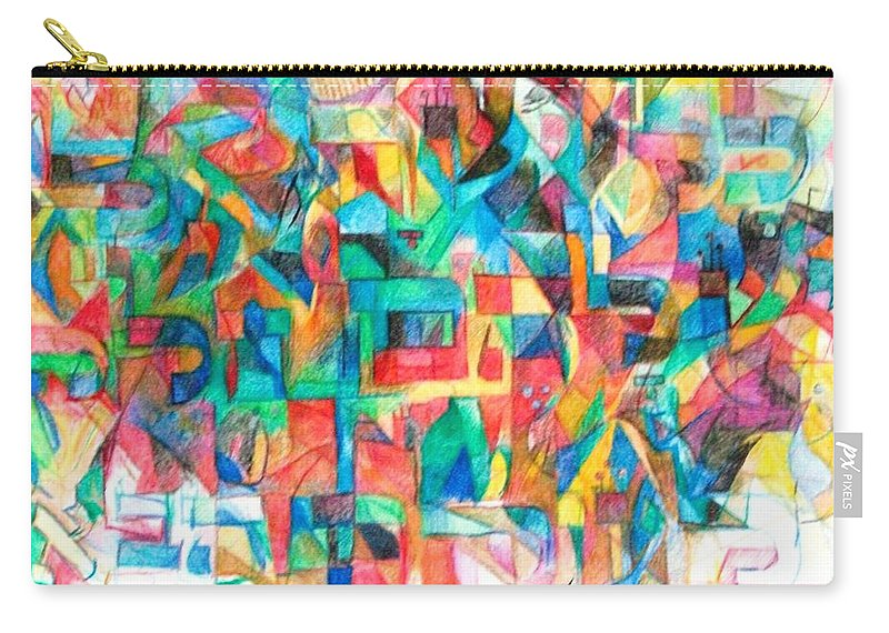World To Come Carry-all Pouch featuring the drawing Every Jew Has A Portion In The World To Come by David Baruch Wolk