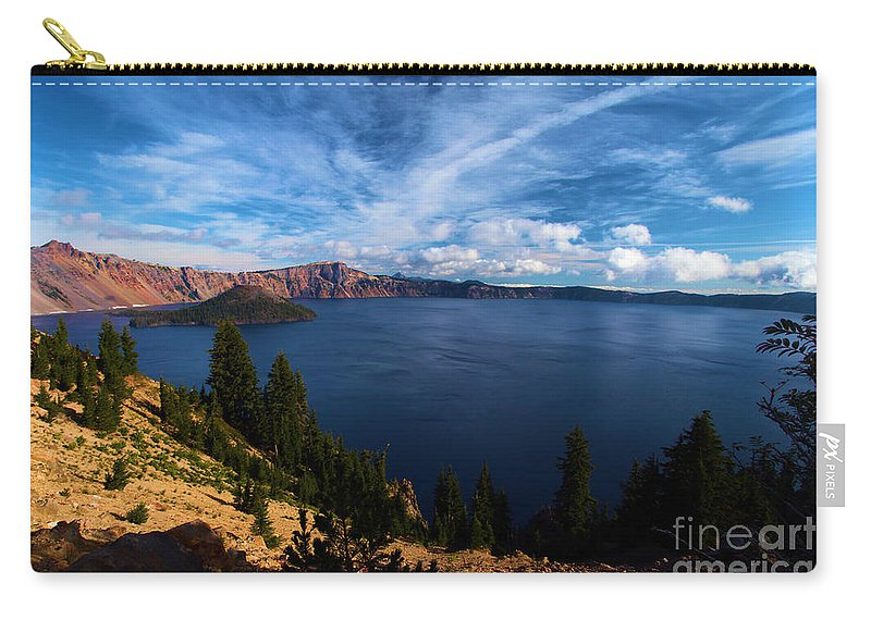 Crater Lake National Park Carry-all Pouch featuring the photograph Everywhere Blue by Adam Jewell