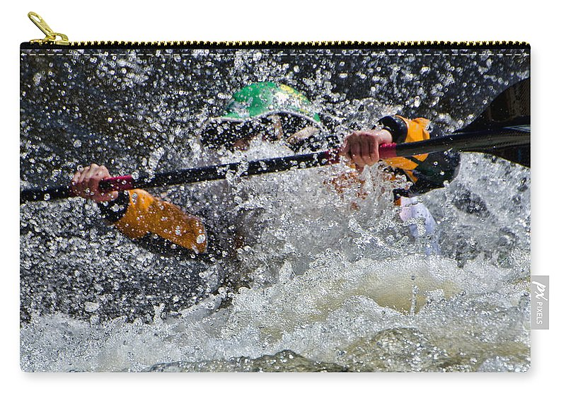 Kayak Carry-all Pouch featuring the photograph Exhilaration by Don Schwartz
