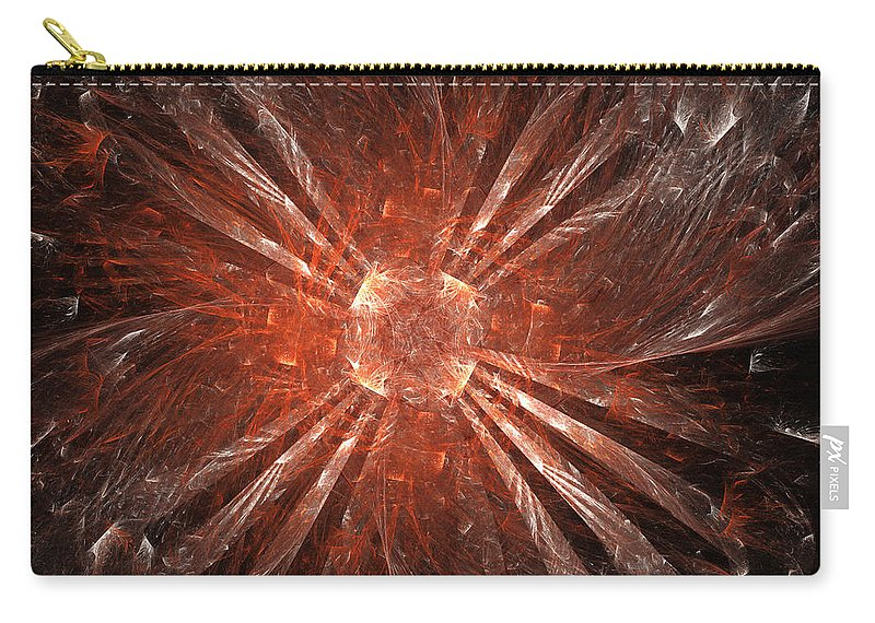 Orange Carry-all Pouch featuring the digital art Expansion by Ricky Barnard
