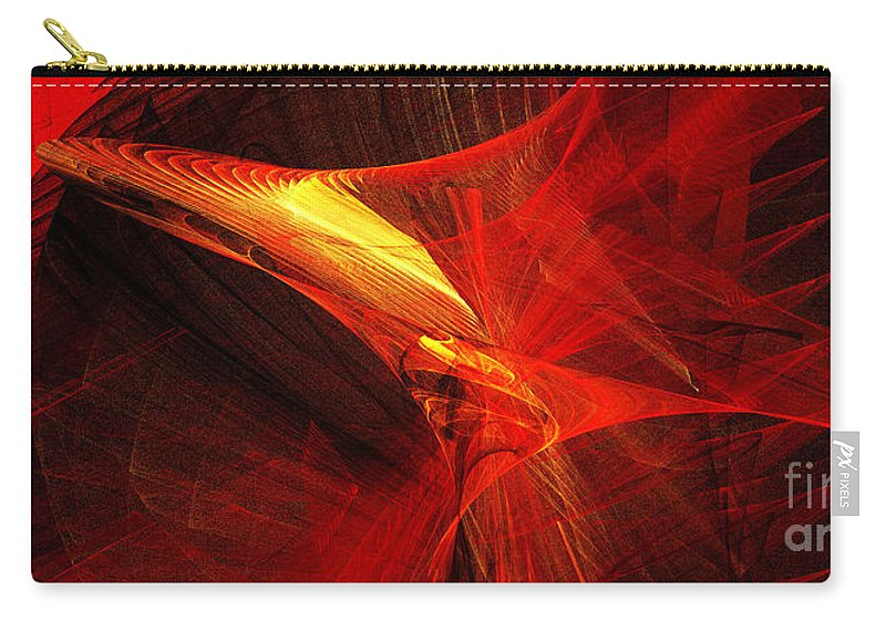 3d Carry-all Pouch featuring the digital art Explosive Dance by Andee Design