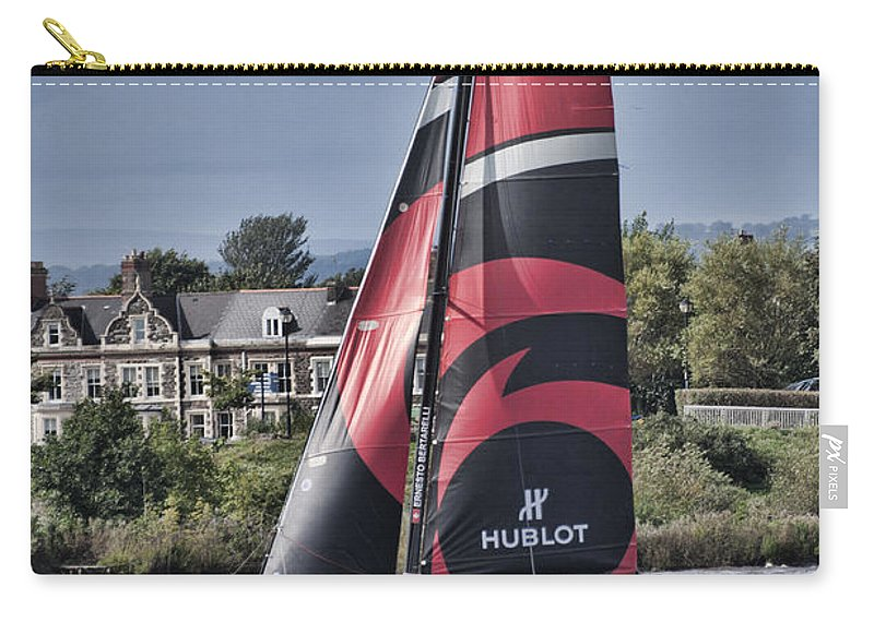 Extreme 40 Catamarans Carry-all Pouch featuring the photograph Extreme 40 Team Alinghi by Steve Purnell