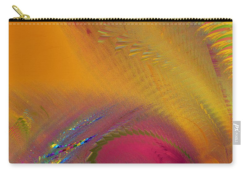 Fractal Carry-all Pouch featuring the photograph Eye Of Jupiter by Mark Greenberg